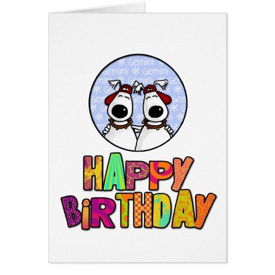 Happy Birthday - Gemini Card