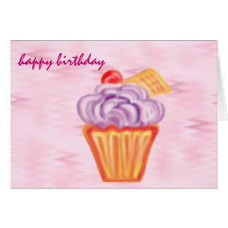 happy birthday : giant cupcake : cards