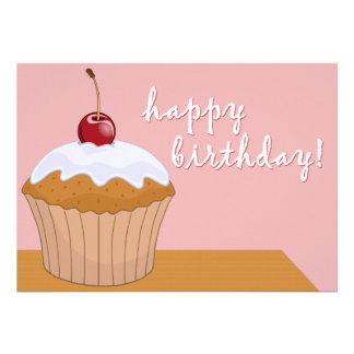 happy birthday : giant cupcake : custom invites