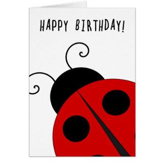 Happy Birthday, Giant Ladybug Card
