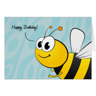 Happy Birthday, Giant Smiling Bee Card