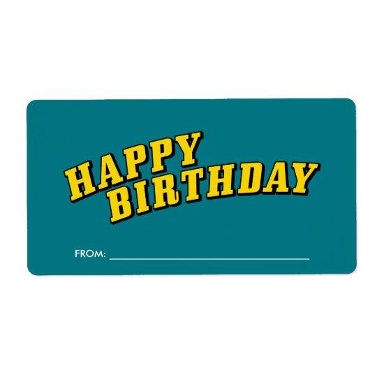 Happy Birthday Gift Label Stickers