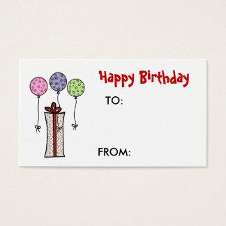Happy Birthday,  Gift tag