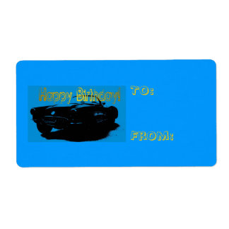 Happy Birthday Gift Tag Shipping Label