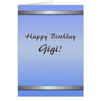 Happy Birthday Gigi card (simple, blank on inside)