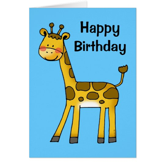 happy birthday (giraffe) card