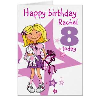 Happy Birthday Girl personalise age card