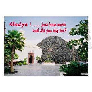 Happy Birthday - Gladys/Coal Card