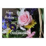 Happy Birthday Goddaughter-Pink Rose Bouquet