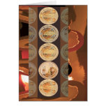 Happy Birthday - Golden Flame Coins 2010 Greeting Card
