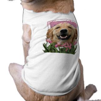 Happy Birthday - Golden Retriever - Mickey Pet Shirt