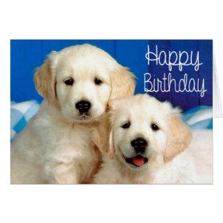 Happy Birthday Golden Retriever Puppy Dog Card