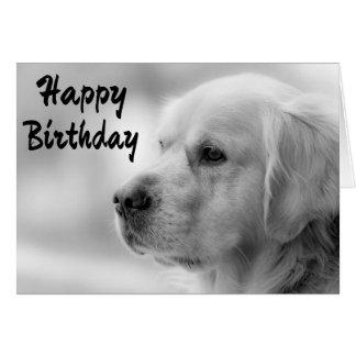 Happy Birthday Golden Retriever Puppy Dog Greeting Card