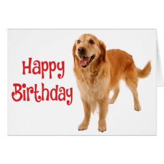 Happy Birthday Golden Retriever Puppy Dog - Verse Card
