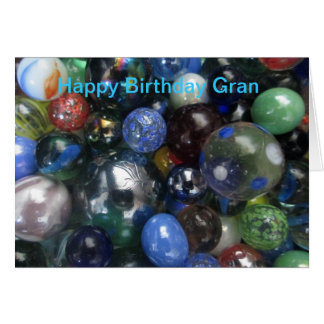 Happy Birthday Gran Marbles Card