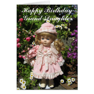 Happy Birthday Grand-daughter Greeting Card