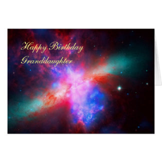 Happy Birthday Granddaughter - Cigar Galaxy Card
