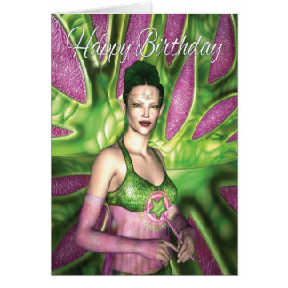 Happy Birthday Granddaughter Fairy Card