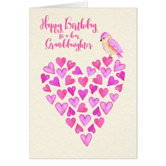 Happy Birthday Granddaughter Lots of Love Card