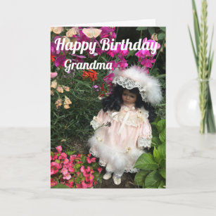 Happy Birthday Grandma Black Doll Card