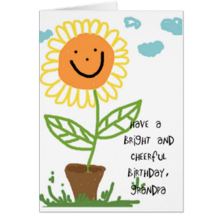 Happy Birthday Grandpa Greeting Card