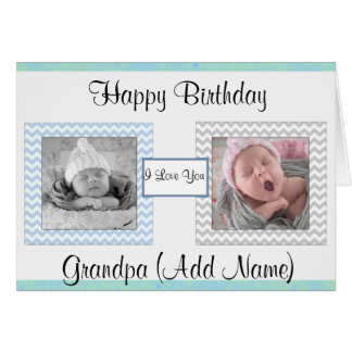 """Happy Birthday Grandpa"" Photo Birthday Card"