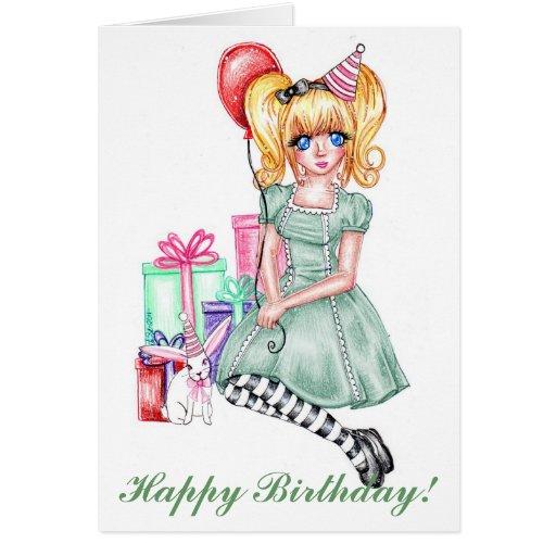 Happy Birthday (Green) Card