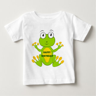 Happy Birthday Green Frog Baby T-Shirt