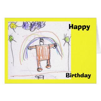 Happy, Birthday Greeting Card