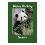 Happy Birthday Greeting Card Panda