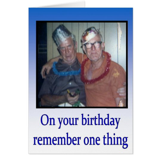 Happy Birthday greeting card vintage humour
