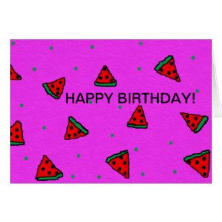 happy birthday greeting card watermelon design
