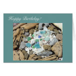 Happy Birthday! greeting cards Blue Sea Glass
