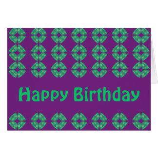 Happy Birthday groovy retro Card