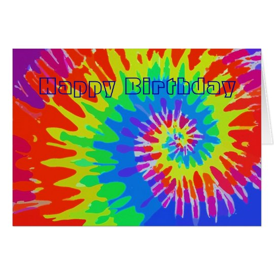 Happy Birthday Groovy Tie-Dye Card