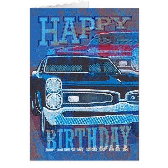 Happy Birthday GTO Cars Card