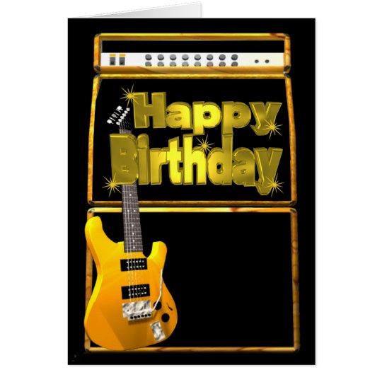 Happy birthday guitars rock card