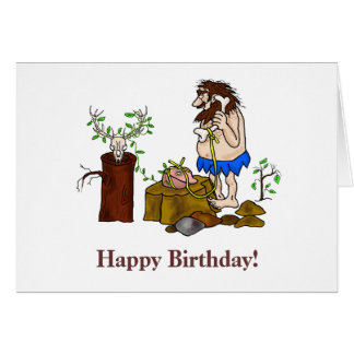 Happy Birthday Ham Radio Caveman Card