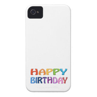 HAPPY BIRTHDAY - Happy 3D-like Colourful Gift iPhone 4 Cases