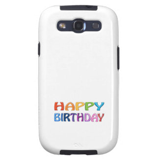 HAPPY BIRTHDAY - Happy 3D-like Colourful Gift Samsung Galaxy SIII Cover