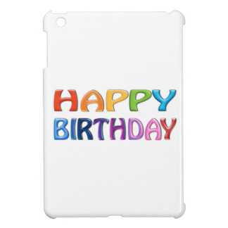HAPPY BIRTHDAY - Happy 3D-like Colourful Gift iPad Mini Case