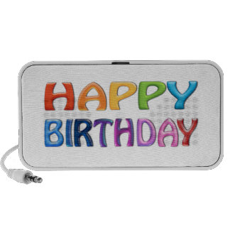 HAPPY BIRTHDAY - Happy 3D-like Colourful Gift PC Speakers