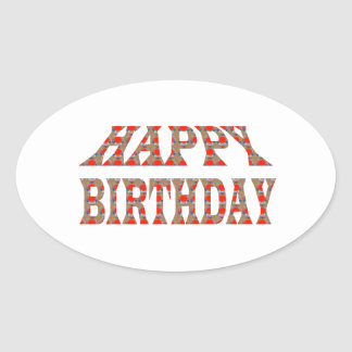 HAPPY BIRTHDAY HappyBIRTHDAY Colorful LOWPRICES Oval Stickers