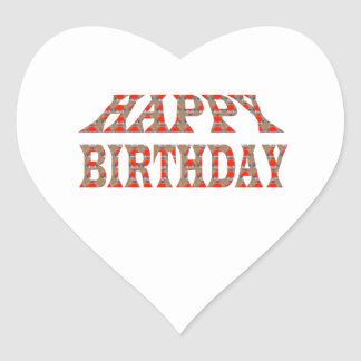 HAPPY BIRTHDAY HappyBIRTHDAY Colorful LOWPRICES Heart Sticker