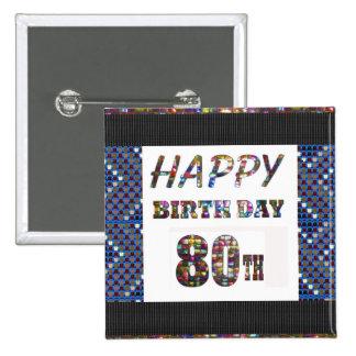 happy birthday happybirthday  designs 15 cm square badge