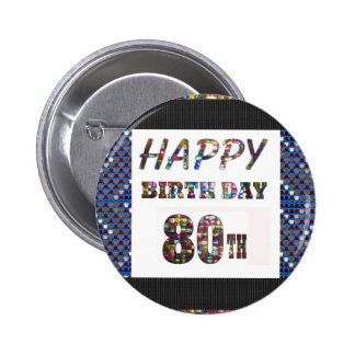 happy birthday happybirthday  designs 6 cm round badge