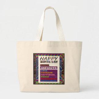 Happy Birthday HappyBirthday Greetings Gifts Jumbo Tote Bag