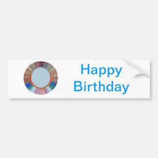HAPPY BIRTHDAY HappyBirthday TEXT n ARTISTIC BASE Car Bumper Sticker