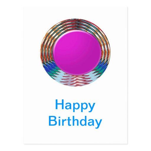 HAPPY BIRTHDAY HappyBirthday TEXT n ARTISTIC BASE Post Card
