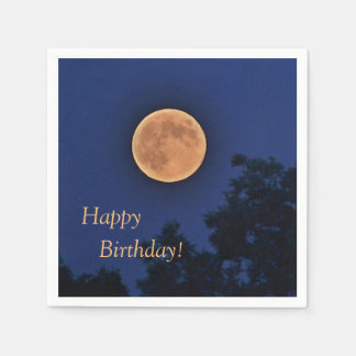 Happy Birthday Harvest Moon Disposable Napkin